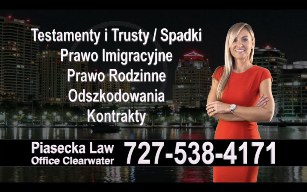 New Port Richey, Polish Attorney, Polski prawnik, Polscy, Prawnicy, Adwokaci, Floryda, Florida, Immigration, Wills, Trusts, Personal Injury, Agnieszka Piasecka, Aga Piasecka, Divorce